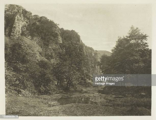 Tissington Spires, Dove Dale, 1880s. A work made of photogravure, plate xlv from the album 'the compleat angler or the contemplative man's...