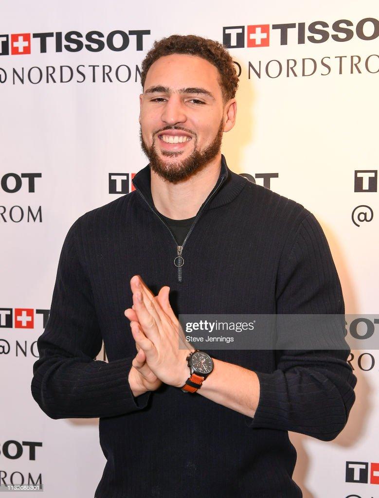 CA: Tissot Brand Ambassador Klay Thompson of the Golden State Warriors Fan Meet & Greet