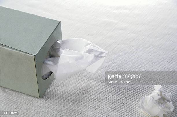 Tissue Box and Wadded Tissue