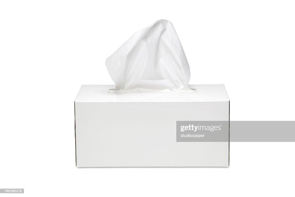 Caixa de lenços de papel : Foto de stock