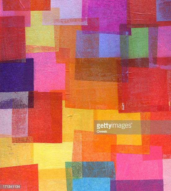 tissue paper collage - bright colour stock pictures, royalty-free photos & images