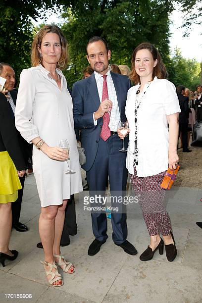 Tita von Hardenberg Alexander Count von SchoenburgGlauchau and Irina Verena von Hessen attend the reopening of the Berggruen Museum at Schloss...