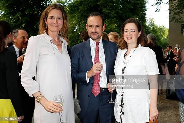 Tita von Hardenberg Alexander Count von SchoenburgGlauchau and Irina Verena von Hessen attend the reopening of the Berggruen Museum at Schloss...