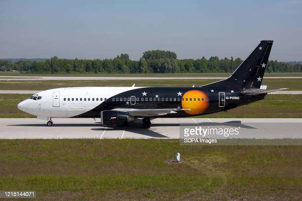 Titan Airways Boeing 737300 seen on the taxiway at Munich airport