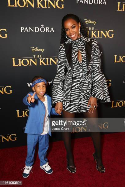 Titan Jewell Weatherspoon and Kelly Rowland attend the World Premiere of Disney's THE LION KING at the Dolby Theatre on July 09 2019 in Hollywood...
