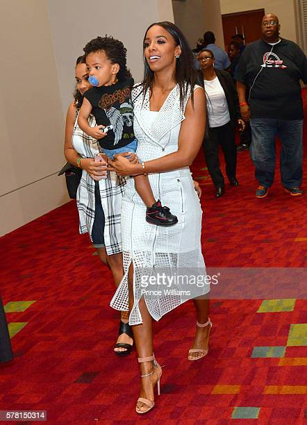 Titan Witherspoon and Kelly Rowland attend the 13th annual Bike Show at Georgia World Congress Center on July 16 2016 in Atlanta Georgia