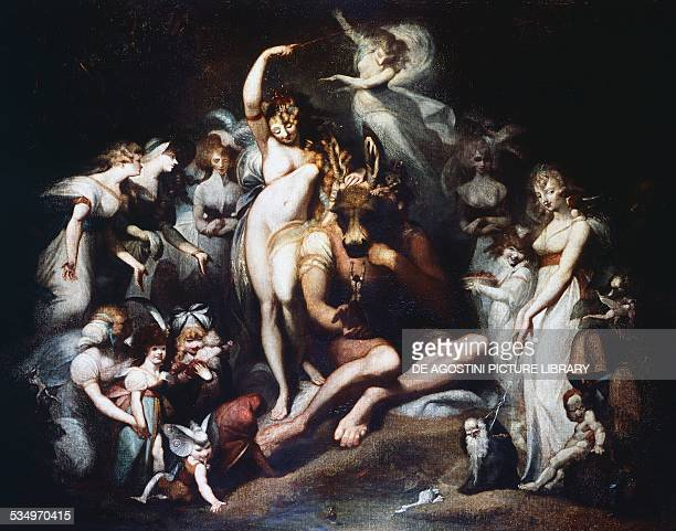 Titania and Bottom ca 1790 by Johann Heinrich Fuseli oil on canvas 217x276 cm United Kingdom 18th century London Tate Gallery