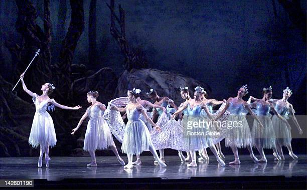 Titania played by Larissa Ponomarenko with her court performing during the 'Midsummer Night's Dream' dress rehearsal at the Wang Theater Wednesday...
