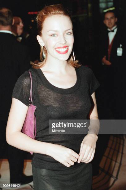Titanic 1997 film premiere at the Empire in Leicester Square London Tuesday 18th November 1997 Our picture shows Kylie Minogue