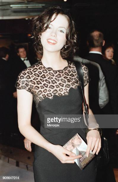 Titanic 1997 film premiere at the Empire in Leicester Square London Tuesday 18th November 1997 Our picture shows Kate Beckinsale