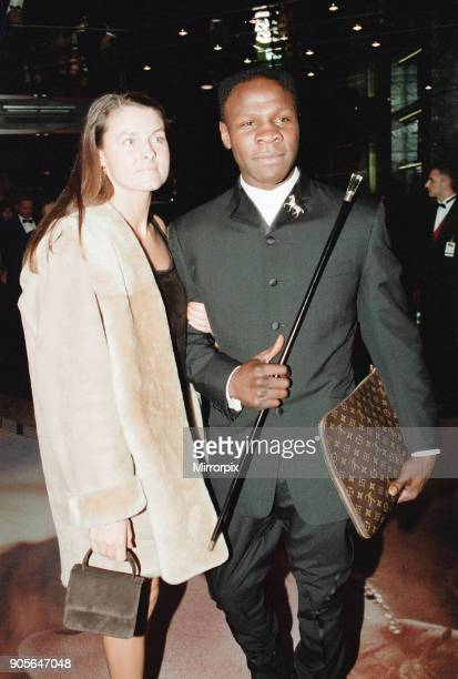 Titanic 1997 film premiere at the Empire in Leicester Square London Tuesday 18th November 1997 Our picture shows Chris Eubank and wife Karron Eubank