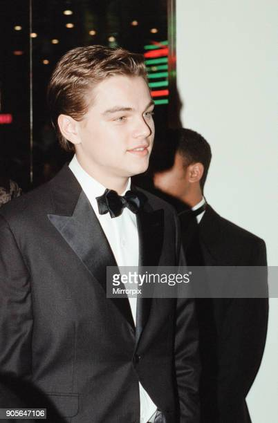 Titanic 1997 film premiere at the Empire in Leicester Square London Tuesday 18th November 1997 Our picture shows Leonardo DiCaprio