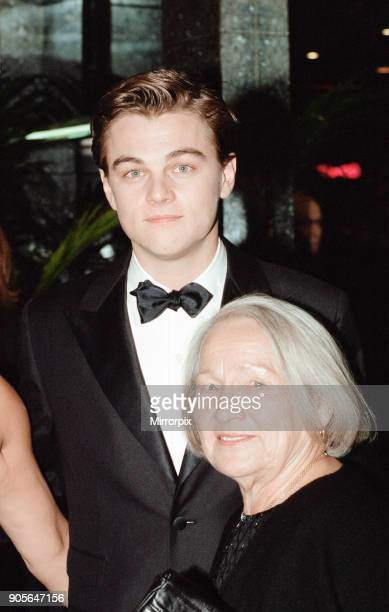 Titanic 1997 film premiere at the Empire in Leicester Square London Tuesday 18th November 1997 Our picture shows Leonardo DiCaprio with his maternal...