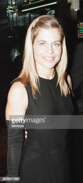 Titanic 1997 film premiere at the Empire in Leicester Square London Tuesday 18th November 1997 Our picture shows Linda Hamilton