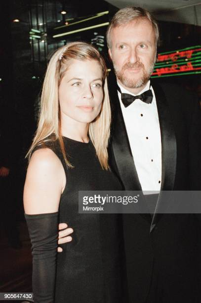Titanic 1997 film premiere at the Empire in Leicester Square London Tuesday 18th November 1997 Our picture shows James Cameron and Linda Hamilton