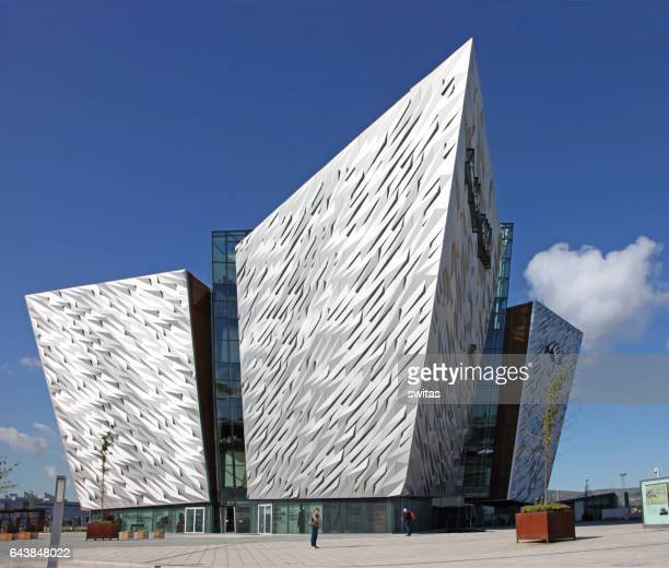 titanic belfast museum - belfast stock pictures, royalty-free photos & images