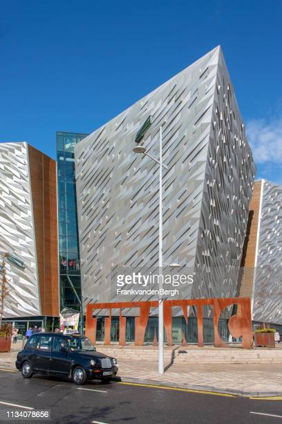 titanic belfast - belfast stock pictures, royalty-free photos & images