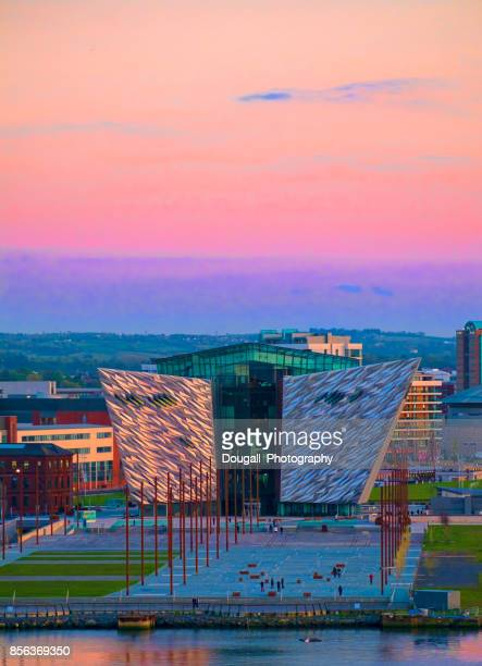 titanic museum, belfast, northern ireland - belfast stock pictures, royalty-free photos & images