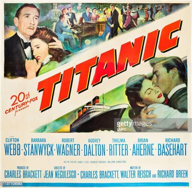 Clifton Webb Barbara Stanwyck bottom lr Audrey Dalton Robert Wagner on poster art 1953
