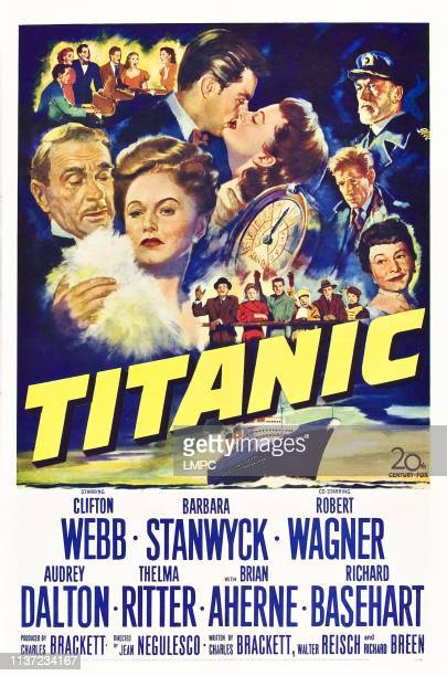 Titanic poster US poster Clifton Webb Barbara Stanwyck Robert Wagner Audrey Dalton Richard Basehart Brian Aherne Thelma Ritter 1953