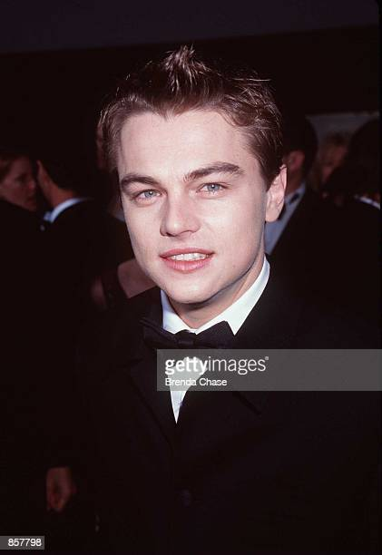 'Titanic' star Leonardo DiCaprio attends the Golden Globe Awards January 18 1998 at the Beverly Hilton in Beverly Hills CA