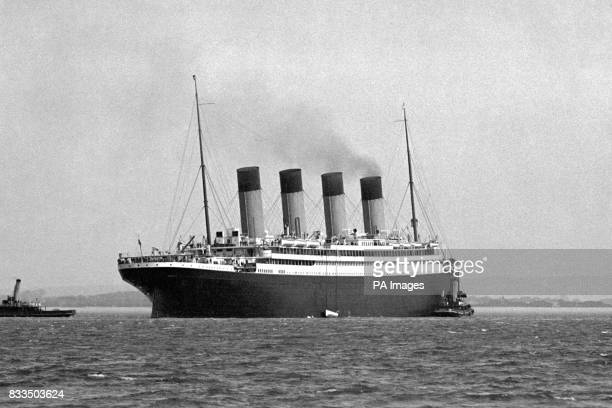 RMS Titanic's sister ship RMS Olympic off Spithead after the Titanic sank
