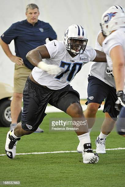 Titans first round pick Chance Warmack attends the Tennessee Titans rookie camp on May 10 2013 in Nashville Tennessee