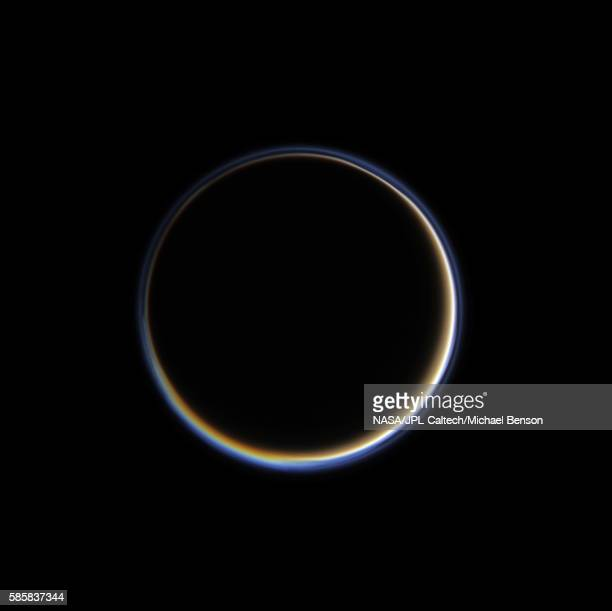 titan's night side - nasa stock pictures, royalty-free photos & images