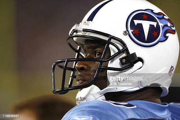 Titans quarterback Vince Young during action between the New Orleans Saints and the Tennessee Titans at LP Field in Nashville, Tennessee on August...