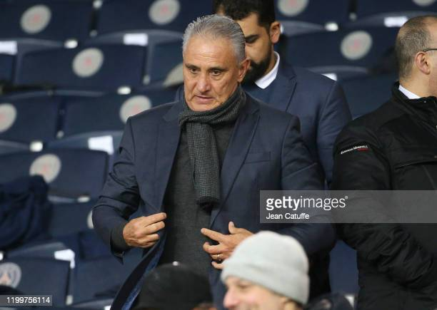 Tite aka Adenor Leonardo Bacchi, head coach of Brazil national team attends the Ligue 1 match between Paris Saint-Germain and Olympique Lyonnais at...