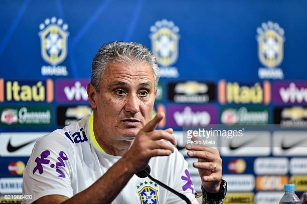 Tite coach Brazilian Team during Press Conference at Mineirao stadium on November 9 2016 in Belo Horizonte Brazil