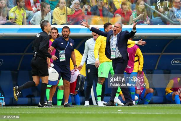 Tite head coach / manager of Brazil reacts during the 2018 FIFA World Cup Russia group E match between Brazil and Costa Rica at Saint Petersburg...
