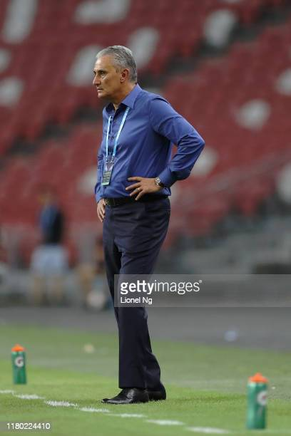 Tite head coach of Brazil during the international friendly match between Brazil and Senegal at the Singapore National Stadium on October 10, 2019 in...
