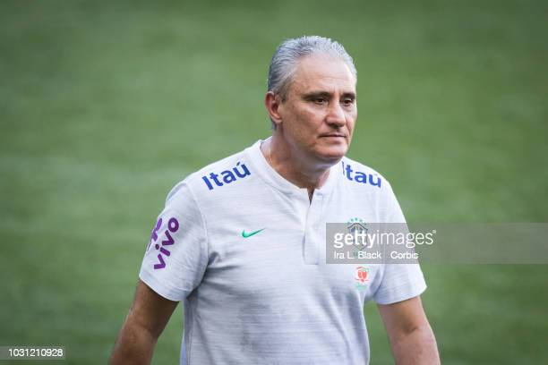 Tite Head Coach of the Brazil National Soccer Team during the training session before facing the US Men's Soccer Team in a friendly match The...