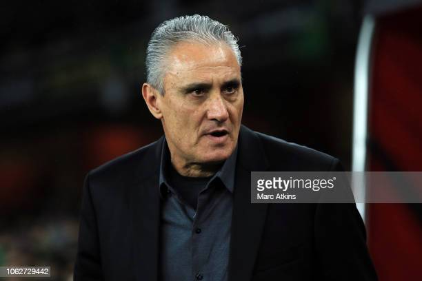 Tite manager of Brazil during the International Friendly between Brazil and Uruguay at Emirates Stadium on November 16 2018 in London England