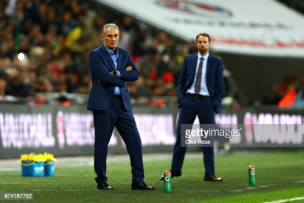 Tite Manager of Brazil looks on during the international friendly match between England and Brazil at Wembley Stadium on November 14 2017 in London...