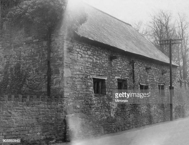 Tithe Barn Brecon a market town and community in Powys Mid Wales 24th February 1954 Originally a Tithe Barn housed the tithes paid by the local...