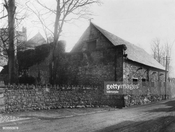 Tithe Barn Brecon a market town and community in Powys Mid Wales Circa 1950 Originally a Tithe Barn housed the tithes paid by the local community to...
