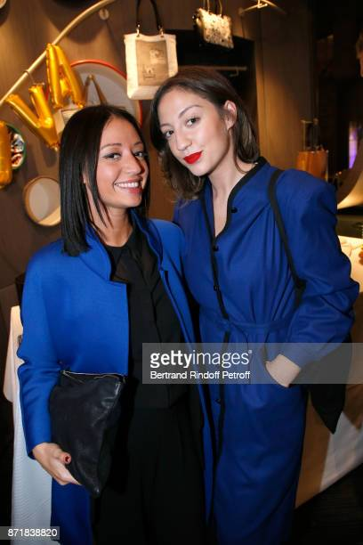 Titi Ayed and her sister Emyra Ayed aka 'La Crazy Revolution' attend Reem Kherici signs her book 'Diva' at the Barbara Rihl Boutique on November 8...