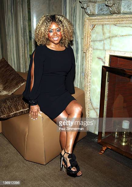 Titi Branch coowner of Miss Jessie hair products attends the Target salute to Miko Branch and Titi Branch to celebrate being named two of Ebony...