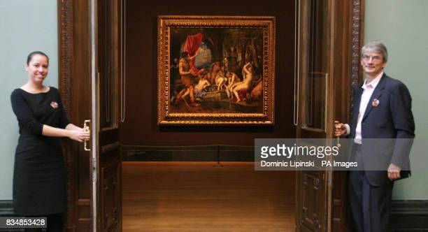 Titian's 'Diana and Actaeon' one of the most celebrated masterpieces of the Italian Renaissance at the National Gallery London