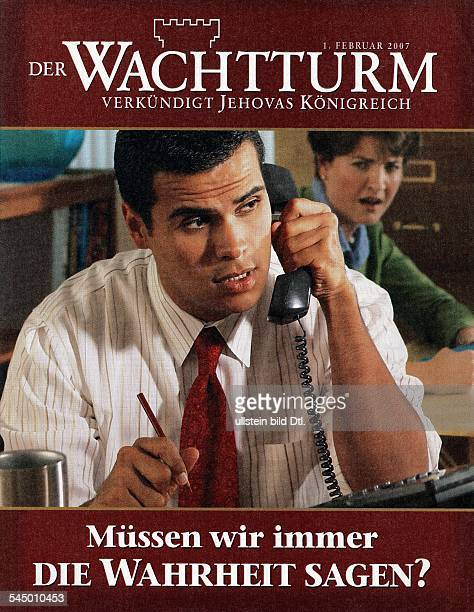Title of Der Wachtturm a magazine of the Jehovah`s witnesses 2007