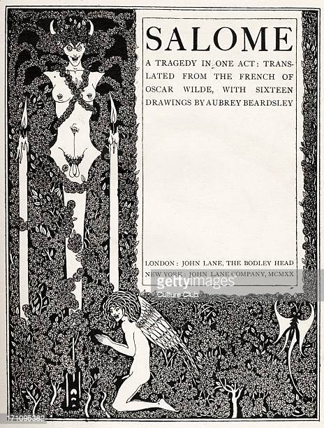 ' Title Page ' Aubrey Beardsley 's illustration for ' Salome ' by Oscar Wilde first performed in England on 10 May 1905 Richard Strauss 's opera...