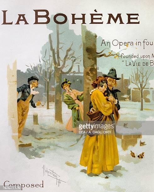 Title page by Adolfo Hohenstein of La boheme opera by Giacomo Puccini Lucca Casa Di Giacomo Puccini