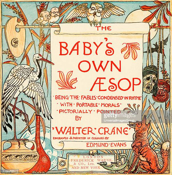 Title Page From the book Babys Own Aesop by Walter Crane published c1920