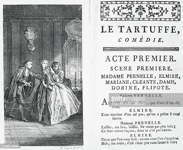Title page from the comedy Tartuffe by Moliere Paris edition of 1760 France 18th century
