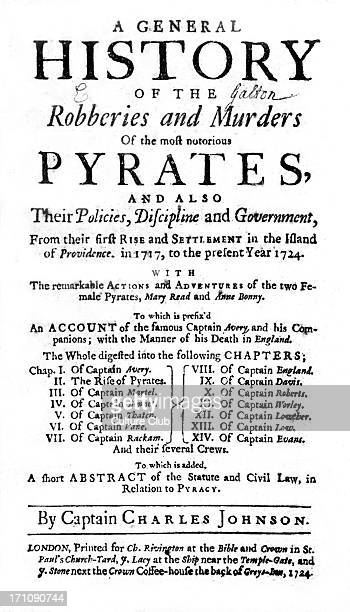 Title page of 'A General History of the Robberies and Murders of the Most Notorious Pyrates', by Captain Charles Johnson : printed for Ch. Rivington,...