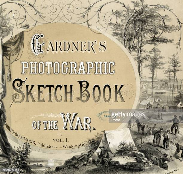 Title page of a photo album of the American Civil War 1865