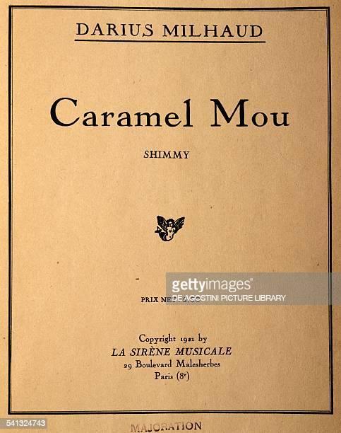 Title page of Caramel Mou by Darius Milhaud France 20th century Praga Prazska Konzervator