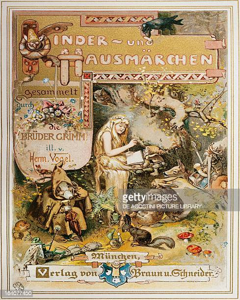 Title page of Children's and Household Tales by Jacob Ludwig Karl Grimm and Wilhelm Karl Grimm Germany 19th century